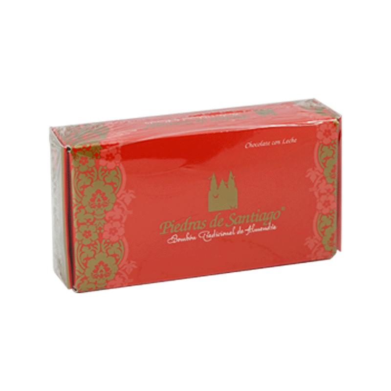 Caja bombones artesanos chocolate leche y almendra Marcona 100g