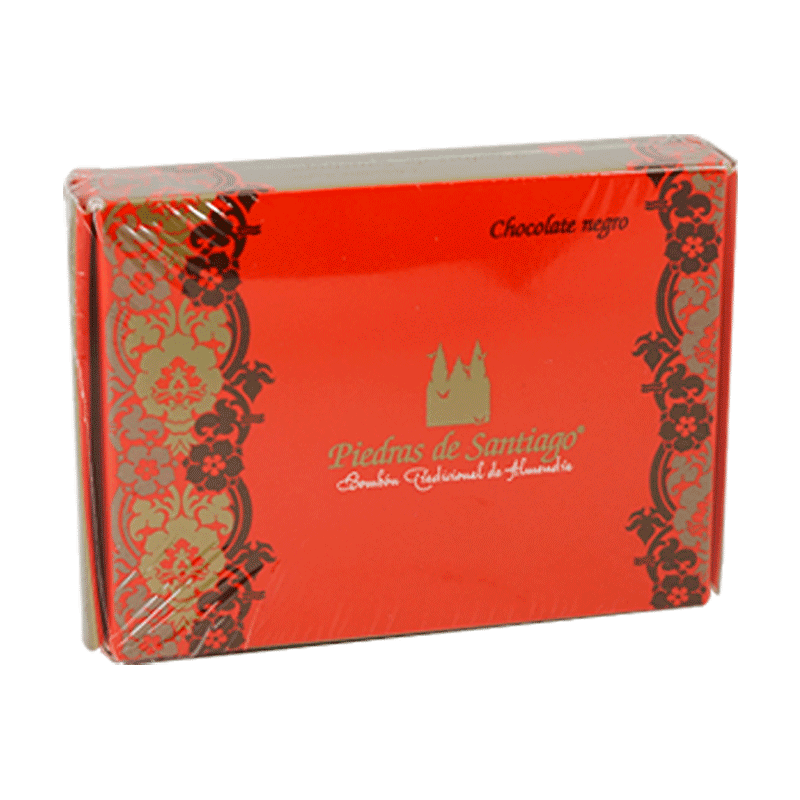 Caja bombones artesanos chocolate negro y almendra Marcona 150g