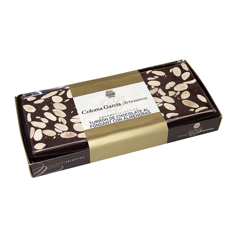 Bandeja turrón chocolate-almendra artesano 'Gourmet' 300g