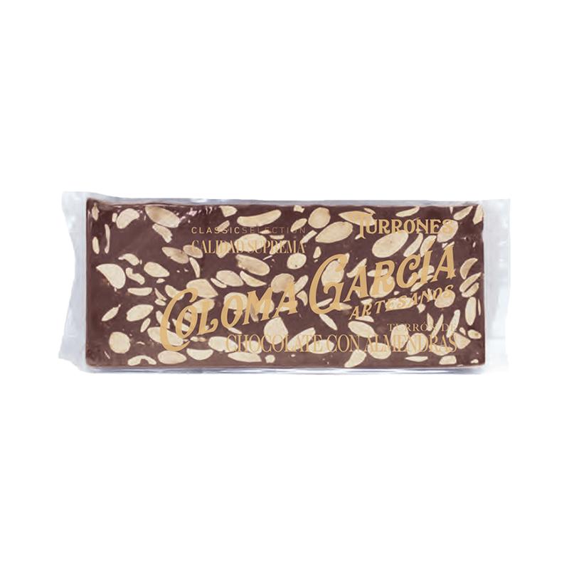 """Estuche turrón chocolate con almendras artesano """"Classic"""" 200g"""