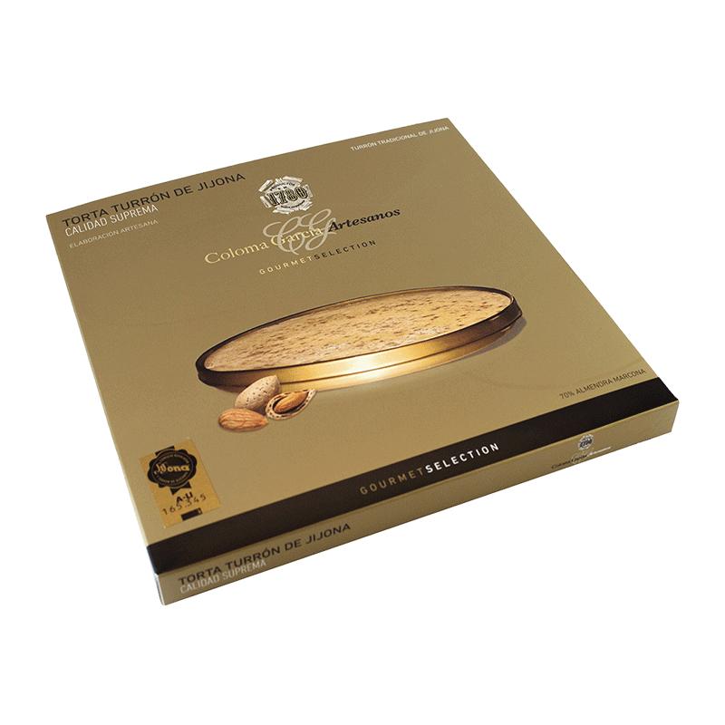 Estuche torta Oro turrón Jijona artesana 'Gourmet' 200g