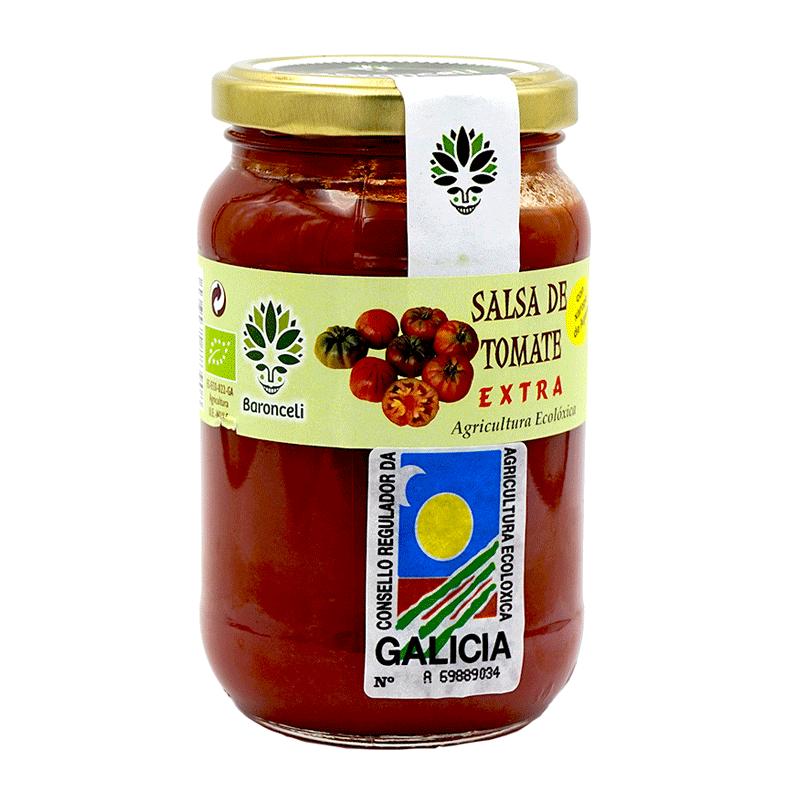 Frasco salsa de tomate ecológica 370g