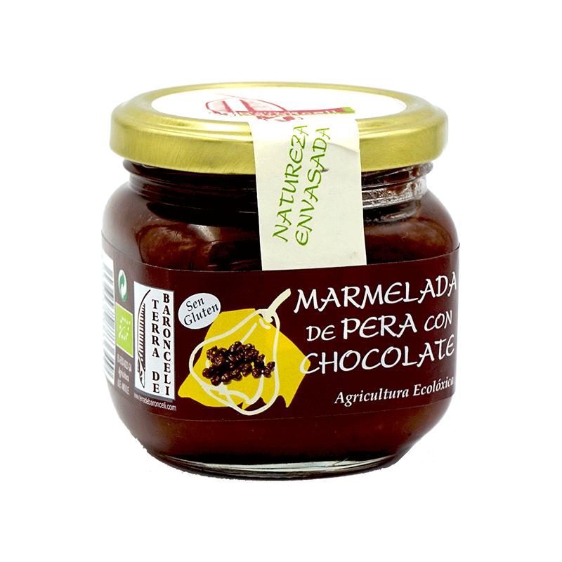 Mermelada de pera con chocolate ecológica 200g