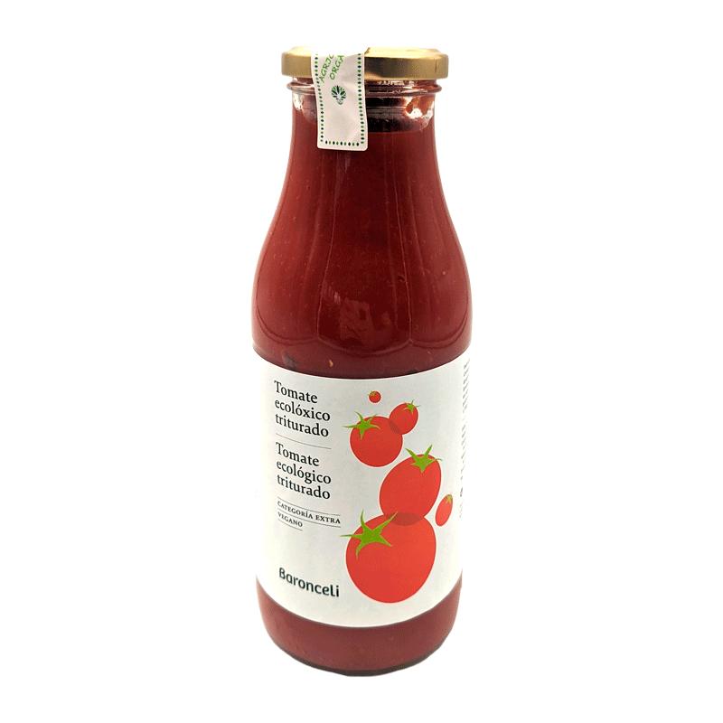 Frasco salsa de tomate triturada ecológica 500g