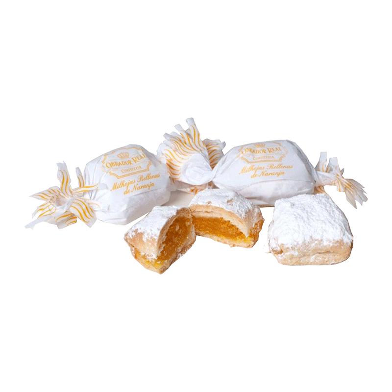 Caja milhojas rellanas de naranja artesanas 2kg