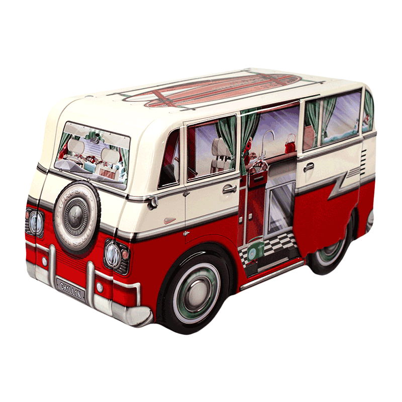Lata bombones praliné leche 'Mini Camper Van' 150g