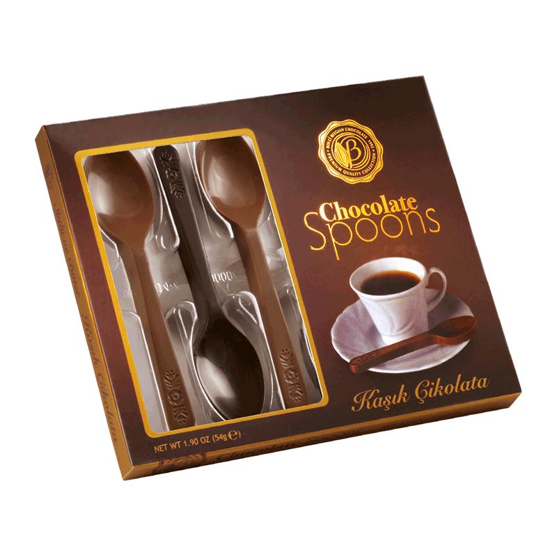 Estuche cucharas surtidas chocolate negro-chocolate leche 6 uds