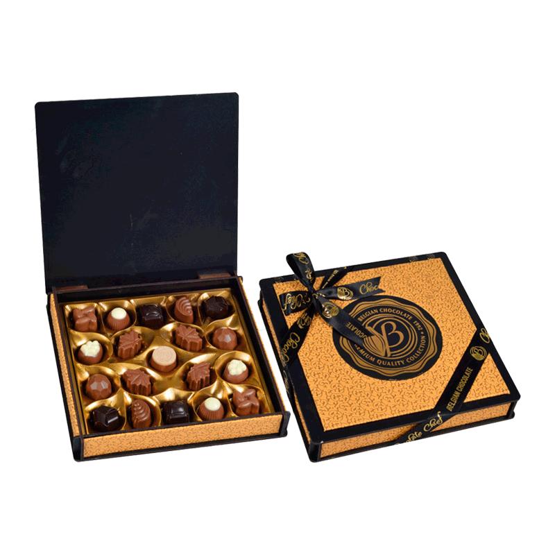 Caja bombones surtidos 'Madera & Cuero Oro' 230g