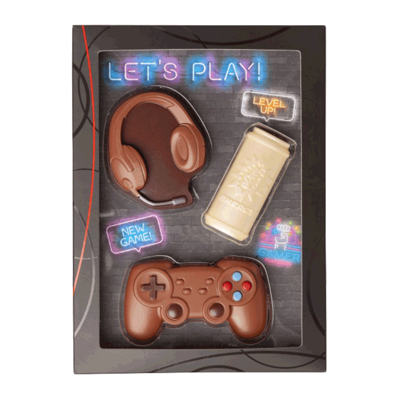 Kit chocolate con leche 'Gaming-Set' 100g