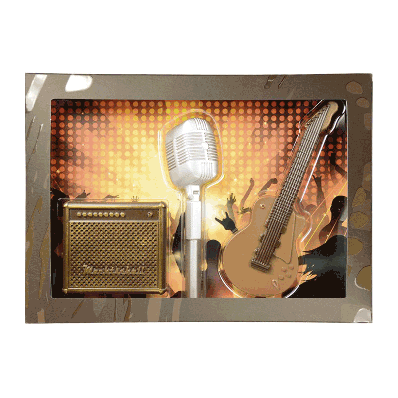 Kit chocolate con leche 'Rock music' 100g
