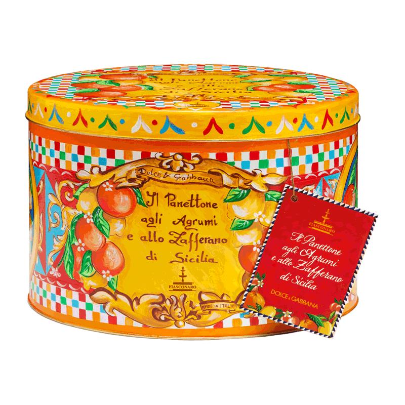 Lata panettone Dolce & Gabbana cítricos 1kg