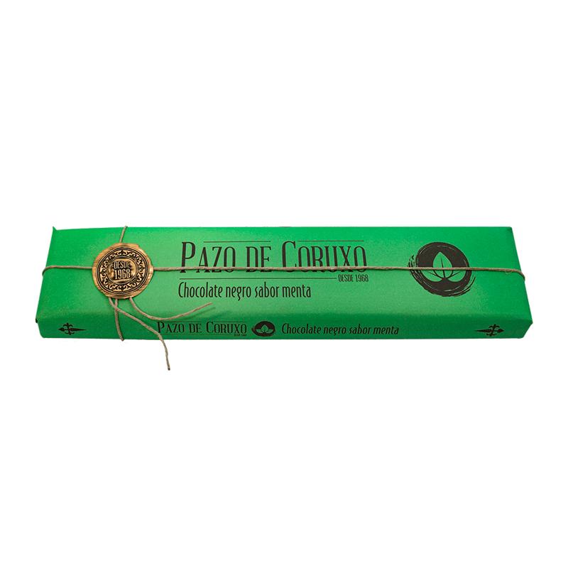 Chocolate artesano negro con menta 300g