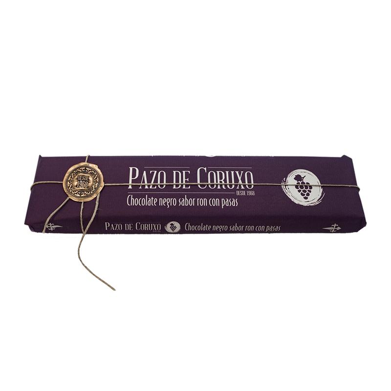 Chocolate artesano negro con ron y pasas 300g
