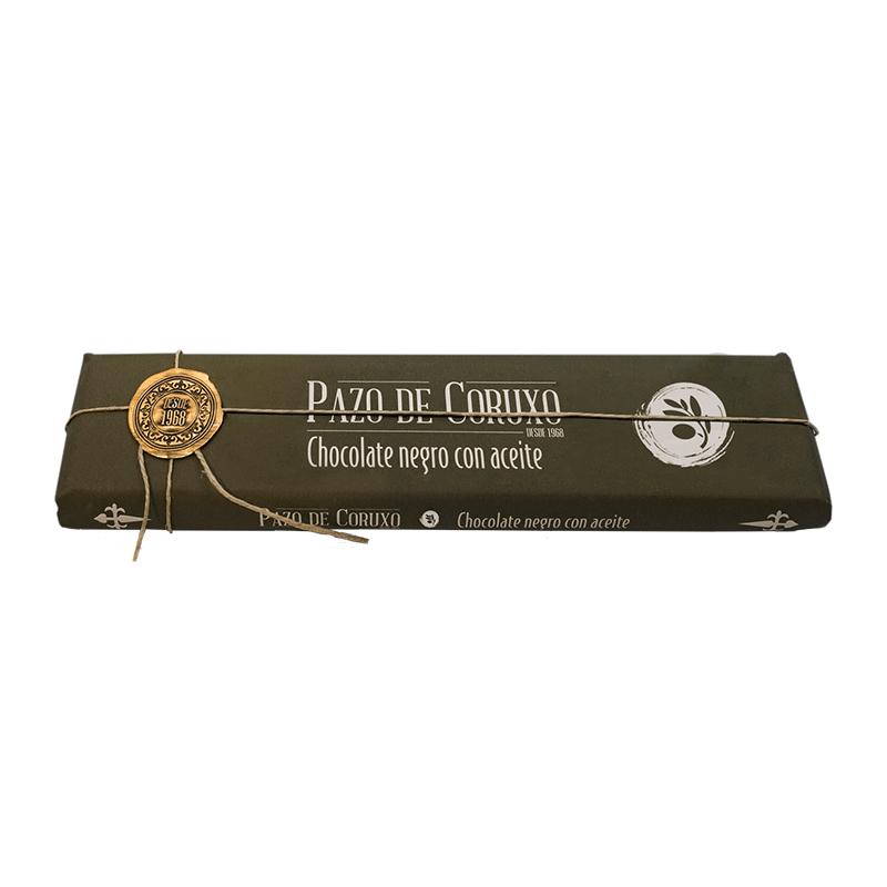 Chocolate artesano negro con aceite de oliva 300g