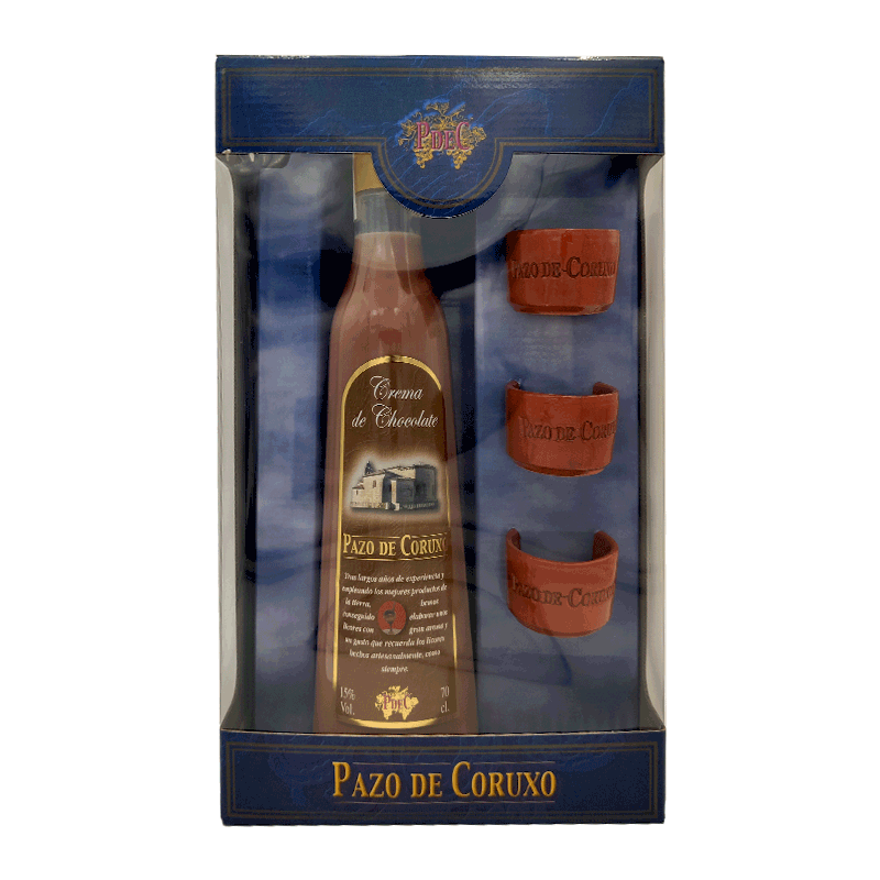 "Crema de chocolate gallega ""3 Chupitos Barro"" 70cl"