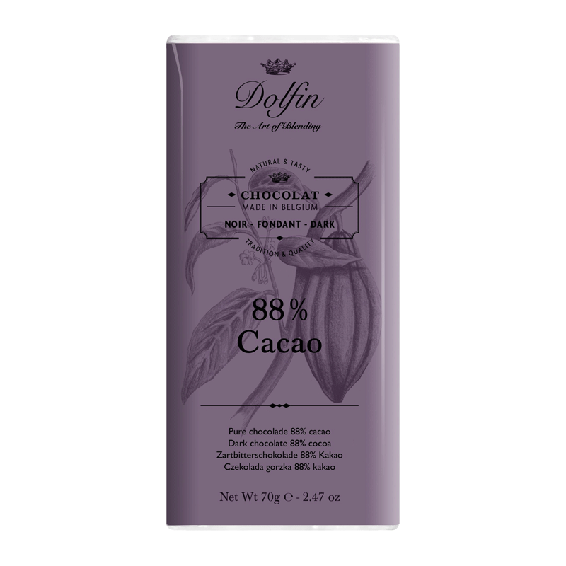 Chocolate negro 88% cacao 70g