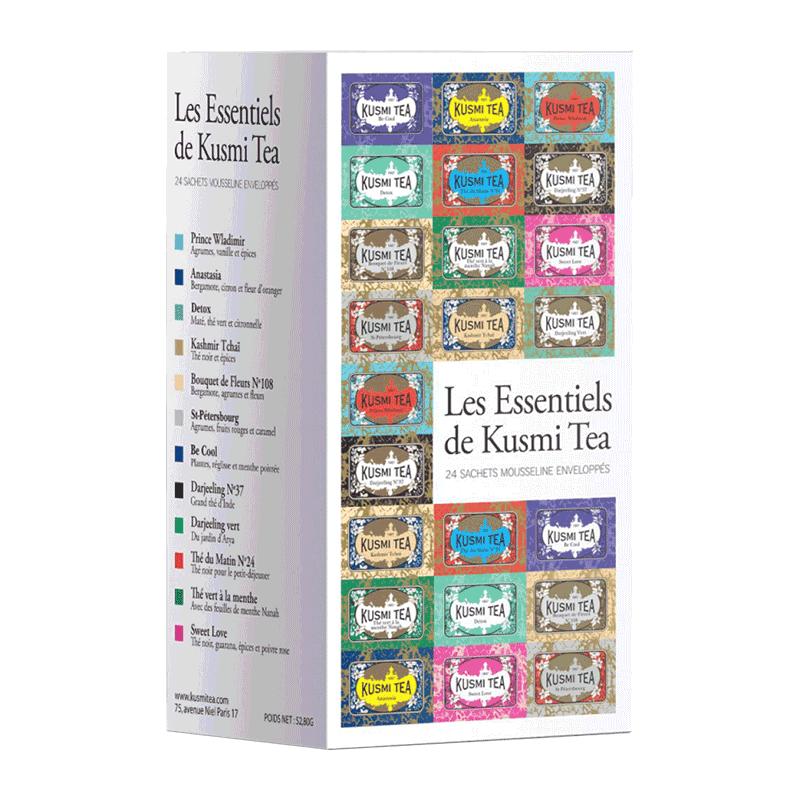 Caja surtida tés esencial 'Les Essentiels de Kusmi Tea' 24 bolsas
