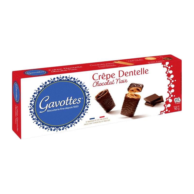 Caja crepes recubiertos chocolate negro 'Crêpe Dentelle Chocolat noir' 90g