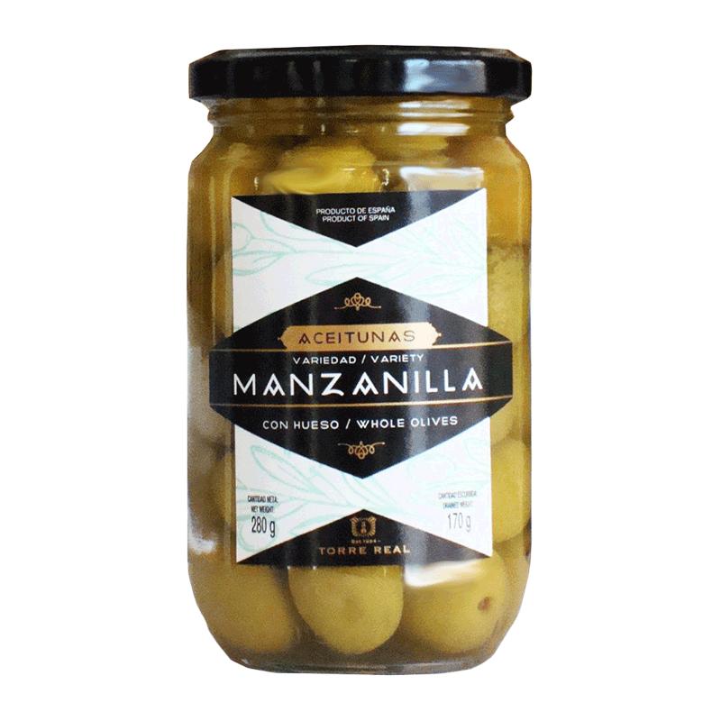 Aceitunas manzanilla con hueso 280g