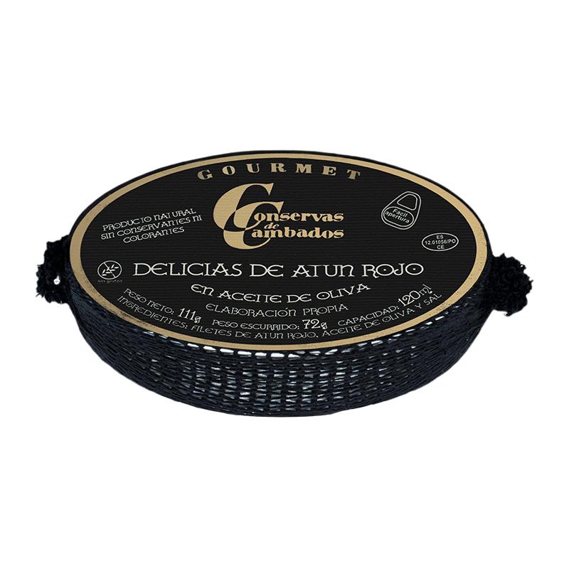 Delicias atún rojo en aceite oliva Rías Gallegas 111g