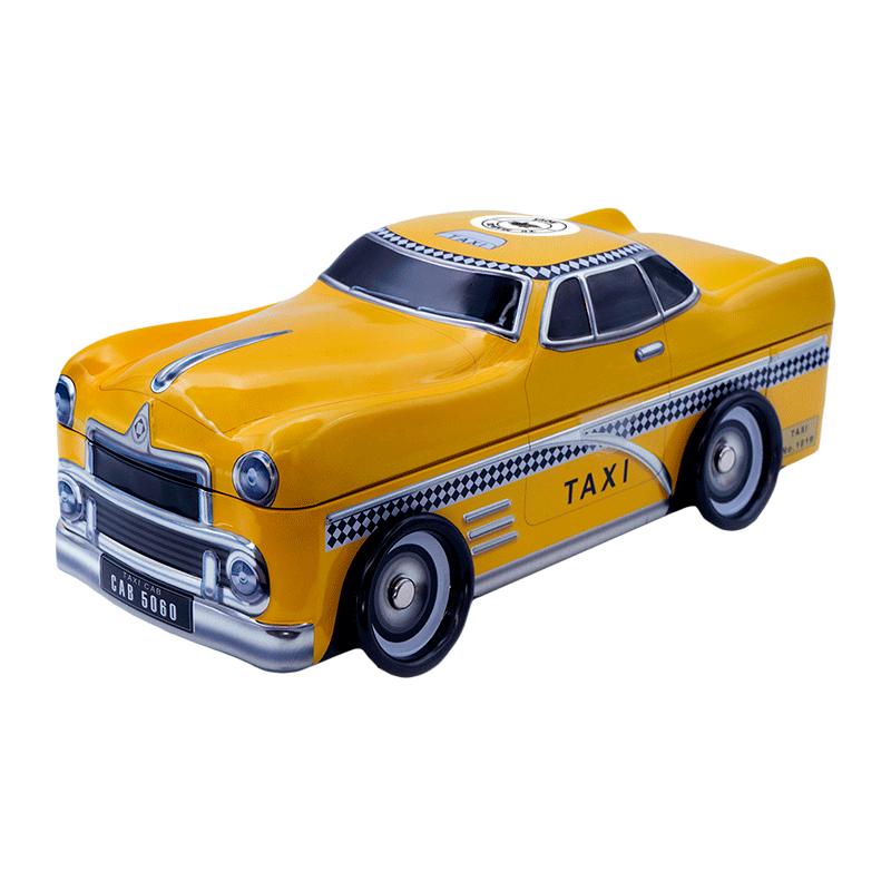 Lata personalizada de bombones praliné leche 'Taxi' 300g