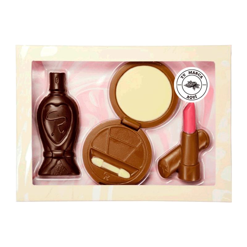 Kit personalizado de chocolate con leche 'Maquillaje' 130g