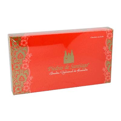 Caja bombones artesanos chocolate leche y almendra Marcona 275g