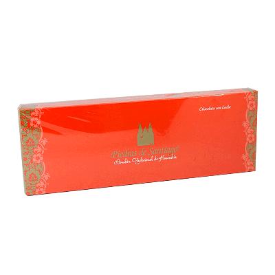 Caja bombones artesanos chocolate leche y almendra Marcona 400g