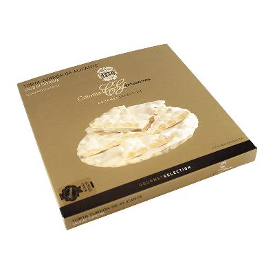 "Estuche torta Oro turrón Alicante artesana ""Gourmet"" 200g"