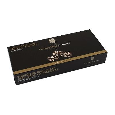 "Estuche turrón chocolate y almendras artesano ""Classic"" 200g"