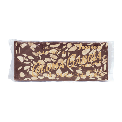 Estuche turrón chocolate y almendras artesano 'Classic' 300g