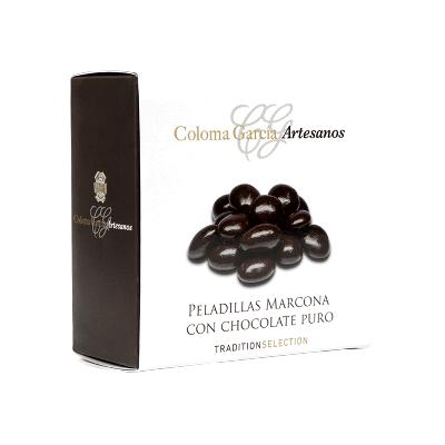 Estuche Peladilla Marcona con chocolate puro 100g