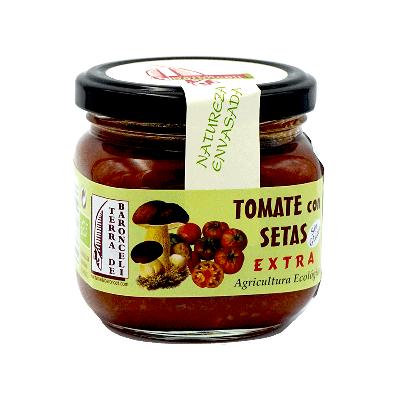 Frasco tomate con setas silvestres ecológico 175g