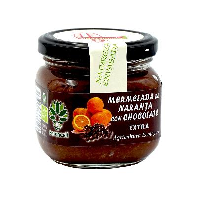 Mermelada de naranja con chocolate ecológica 200g
