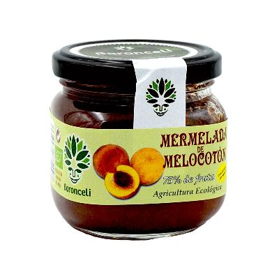 Mermelada de melocotón sin azúcar ecológica 200g