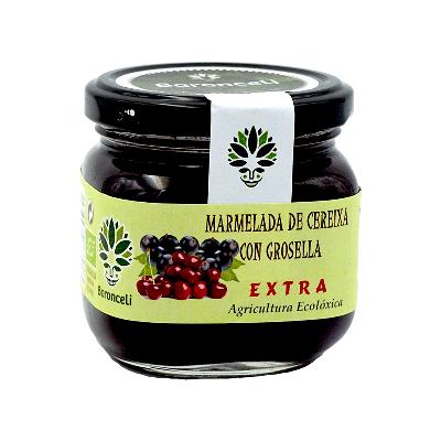 Mermelada de cereza con grosella ecológica 200g
