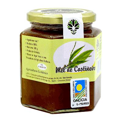 Miel de castiñeiro ecológica 500g