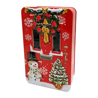 Lata bombones praliné leche 'Puerta de Navidad roja' 150g
