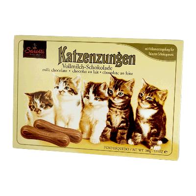 Caja Lengua de gato leche 100g