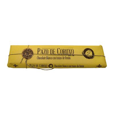 Chocolate artesano blanco con trozos limón 300g