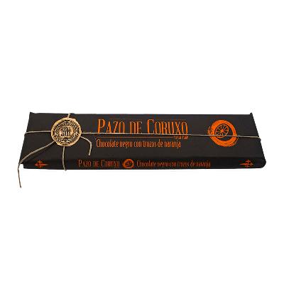 Chocolate artesano negro con trozos de naranja 300g