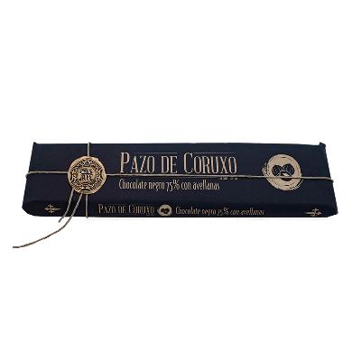 Chocolate artesano 75% cacao con avellanas 300g