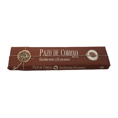 Chocolate artesano 75% cacao con nueces 300g