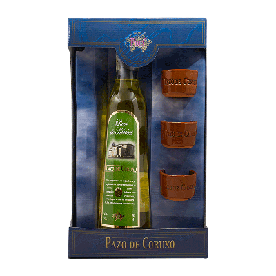Estuche licor de hierbas gallego '3 Chupitos Barro' 70cl