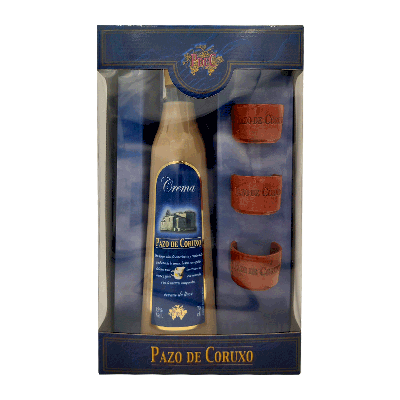 "Estuche crema de licor gallega ""3 Chupitos Barro"" 70cl"