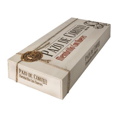 Caja madera carne de membrillo artesano con nueces 600g
