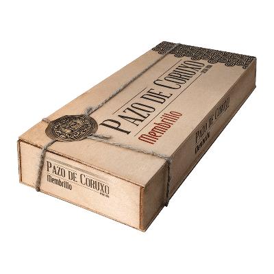 Caja madera carne de membrillo artesano 600g