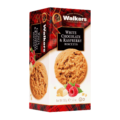 Caja cookies con chips de chocolate blanco y frambuesa 'White Chocolate & Raspberry' 150g