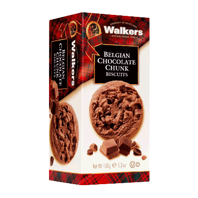Caja cookies con chips de chocolate belga 'Belgian Chocolate Chunk' 150g