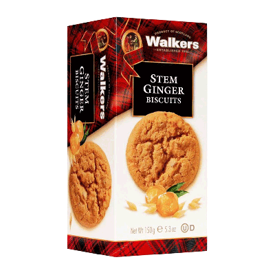 Caja cookies con jengibre 'Stem Ginger' 150g